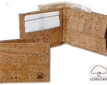 Natural Cork wallet with purse - Cartera de corcho natural con monedero