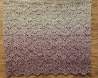 Hand Knitted Cowl, Ombre yarn