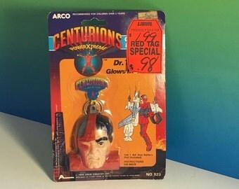 DR TERROR CENTURIONS Doctor vintage toy keychain glow light in dark Power Xtreme moc sealed original package Arco 1986