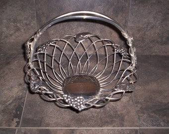 Large Retro Aluminum Basket