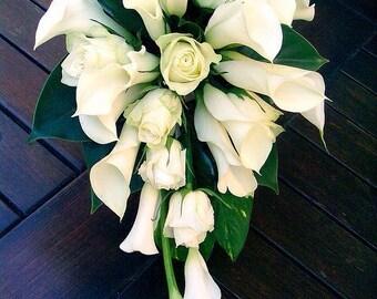 Calla Lily/Rose Bridal Bouquet