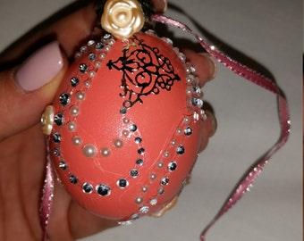 Hand blown Easter Egg Ornament