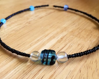 Black and blue choker