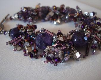 Purple Fringe Bracelet