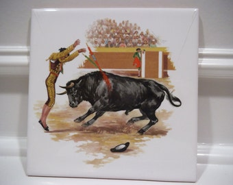 Decorative Spanish Corrida Tile