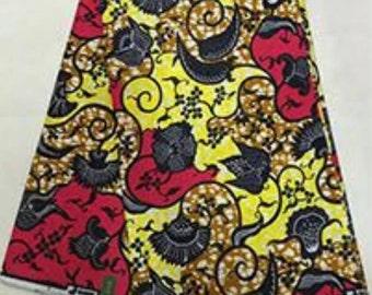 African print fabric 6 yards / Ankara