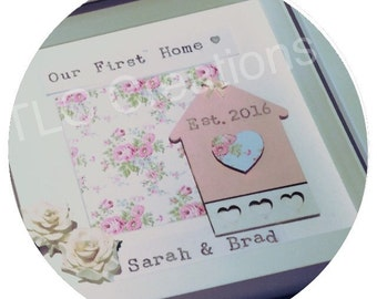 Personalised New Home Photo Frame