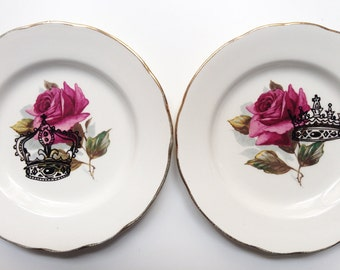 "Duo d'assiettes décoratives collection ""Just Married"""
