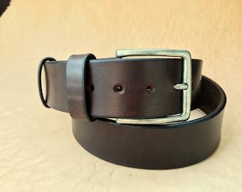 Leather Belt - ESSENTIAL - Dark Brown (Brown Leather Belt, Mens Leather Belt, Womens Leather Belt)