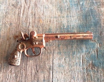 Dent Mohican 1930 Cast Iron Cap Gun |  Dent Mohican Cap Gun |  Thirties Toy Gun | Cowboys and Indians