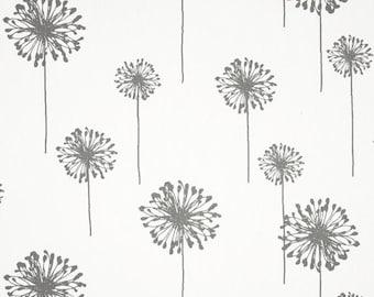 Premier Prints Small Dandelion Coral/White