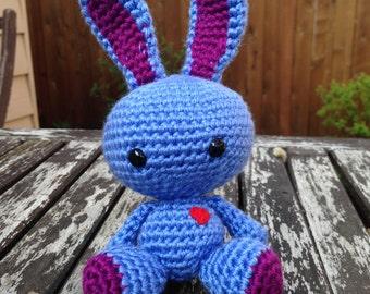 Crocheted Bunny Plush: Plum
