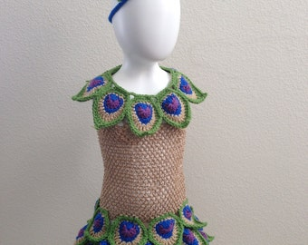 Crochet Peacock Costume, Toddler Peacock Outfit, Peacock Set, Fun Animal Outfit, Photo Prop and Halloween Costume