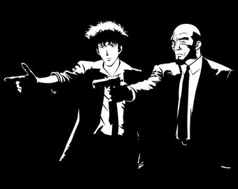 Pulp Cowboy - Cowboy Bebop Pulp Fiction  Men's Unisex T-Shirt - Anime Pop Parody Clothing