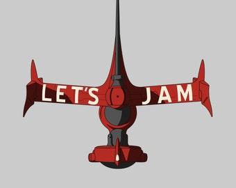 321 Let's Jam - Cowboy Bebop Men's Unisex T-Shirt - Anime Racing Parody Clothing