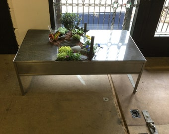 Granite + Stainless Steel Planted Table