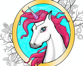 Unicorn Print instant download