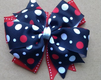 Black and Red Pattern Hair Bow