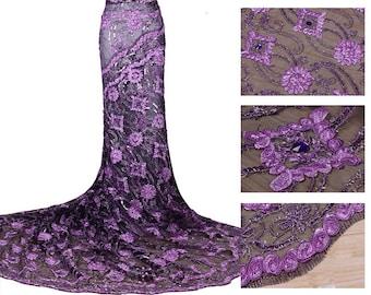 Purple Tulle Lace