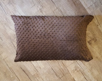 Chocolate Minky Pillowcase
