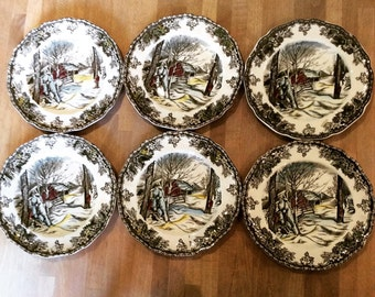 Johnson Bros My Friendly Village tea plates X 6