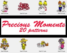 """Precious Moments Machine Embroidery Designs, 4"""" Hoop Design, Embroidery Pattern, Disney Pattern, Cute Girl Patch, Applique, Instant Download"""