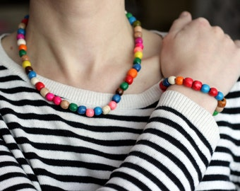 Bead Necklace and bracelet