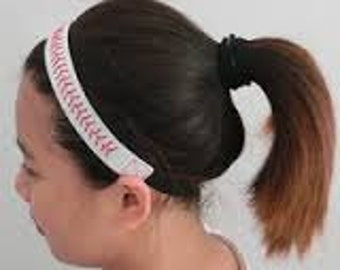 Leather Baseball Headband