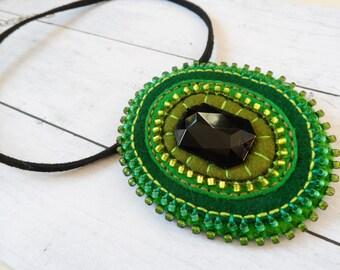 ETNO Mexico 2in1 felt brooch / pendant, felt brooch, felt pendant, felt necklace, gift for her, OOAK