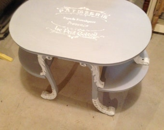 SOLD Ornate shabby chic coffee table