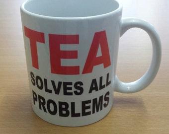 New novelty funny tea solves all problems ceramic mug gift boxed
