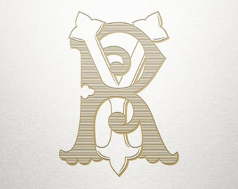 Classic Letters Monogram - RY YR - Classic Letters - Digital