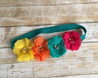 Rainbow Headband/Flower Crown/Rainbow Flower Crown/Rainbow/Flower Headband/Rainbow Baby/Baby Headband/Infant Headband/Baby Girl/Toddler/Halo