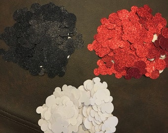 900 Pieces Glitter Mickey Mouse confetti or table scatter two sizes small and large