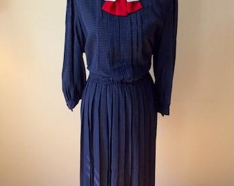 Vintage plus size dress/ 1980s sailor dress/ Halmode Plus