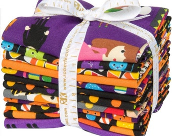 Pumpkin Fun Fat Quarter Bundle by Anne Kelle for Robert Kaufman - 12 Fat Quarters