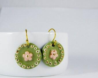 Happy Green Earrings