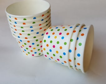 Polka Dot Paper Ice Cream Cups