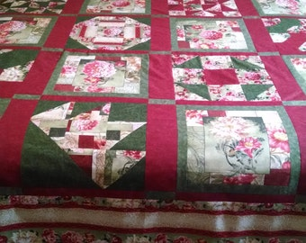 red rose quilt
