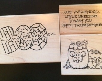 Halloween Boo, Halloween Greeting, Halloween Smiles stamps from CTMH
