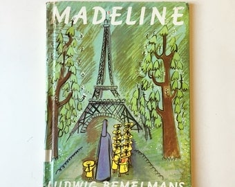 Vintage Childrens Book Madeline 1967, Classic Books, Childrens Art Illustration, Madeline Book by Ludwig Bemelmans, Childrens Wall Art Decor