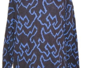 Vintge 1980s Glamour-Knit Ladies Acrylic Sweater Size Large