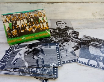 Set of postcards Dynamo Kyiv Football Soviet Union postcards Vintage postcards Динамо Киев Cards Collection cards Gift for football fans