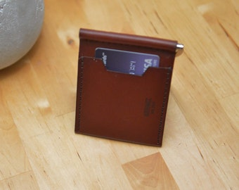 Leather Wallet, Money Clip Wallet. Handmade Money Clip Wallet. Leather Clip Wallet. Money Clip Wallet. M1