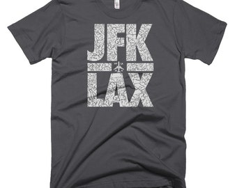 Travel T Shirt, Traveling T Shirt, Jfk T Shirt, Best Travel Shirts, Jetsetter, Jfk T Shirt, Lax T Shirt, Jfk Lax, Nyla, Ny La,