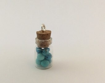 Turquoise Bottle Charm