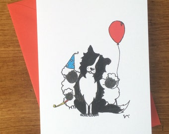 3pack - Jack the Border Collie Greeting Card