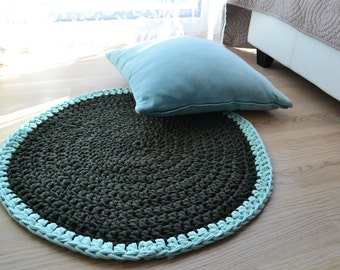 Floral Round Rug, Crochet Rug, Crochet Carpet, Round Rug, 100% Handmade