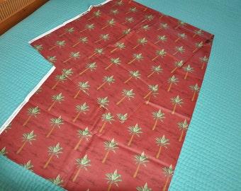 Palm Tree Fabric 3-1/2 yards