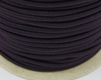 5, 10, 50 meter rubber cord 3mm black